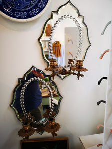 Vintage Wall Sconce Mirrors (Pair)