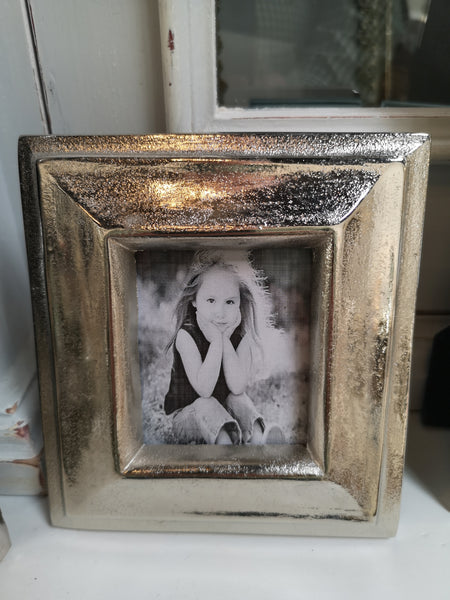 Polished Aluminum Photo Frame