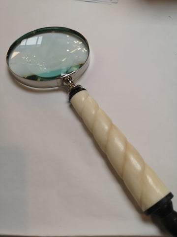 Cream Handled Brass Magnifying Glass