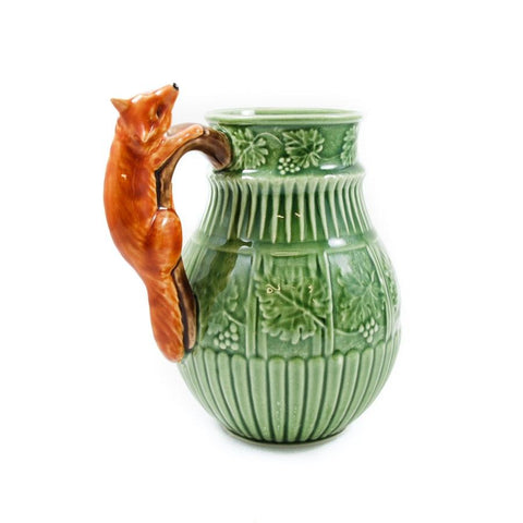 Bordallo Pinheiro Pitcher Fox Green