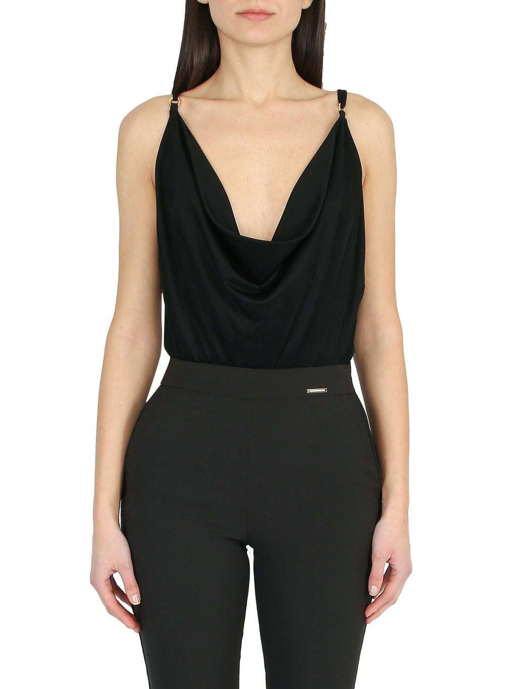 Draped v-neck body