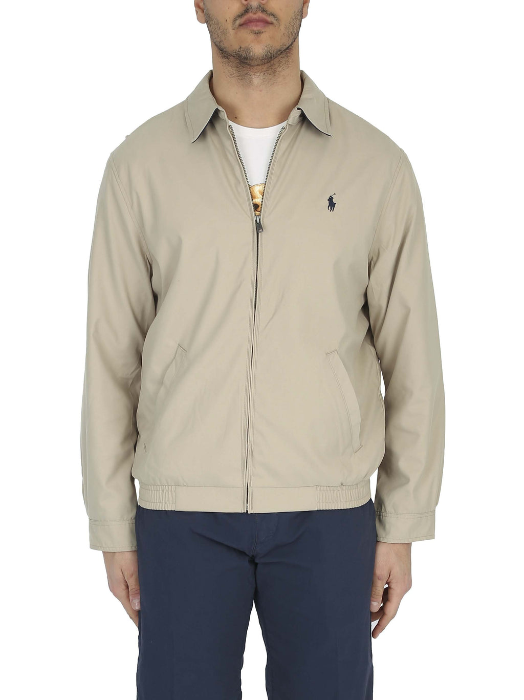 RALPH LAUREN Cotton blouson with embroidered logo