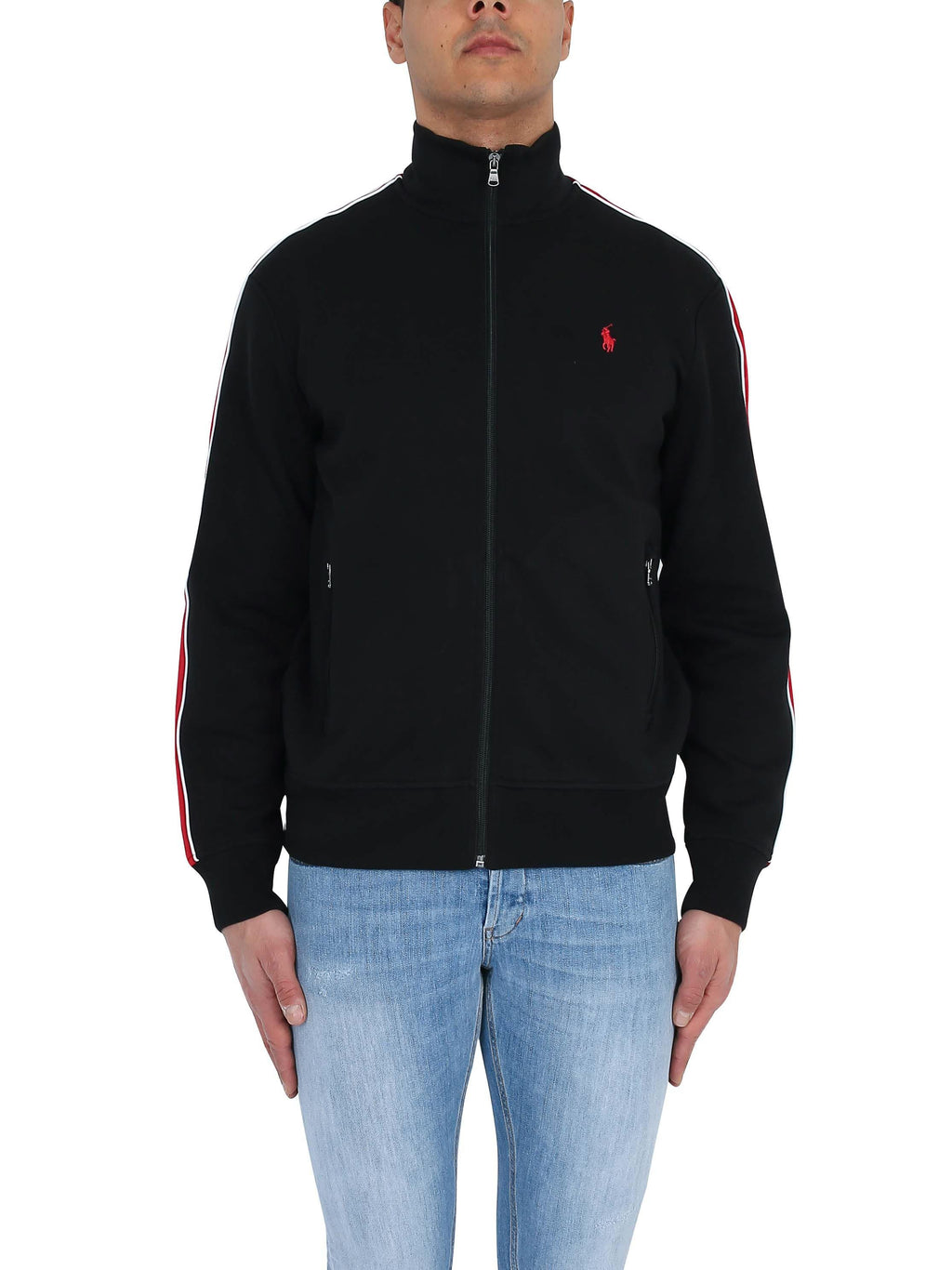 RALPH LAUREN Sweatshirt with side bands and embroidered logo
