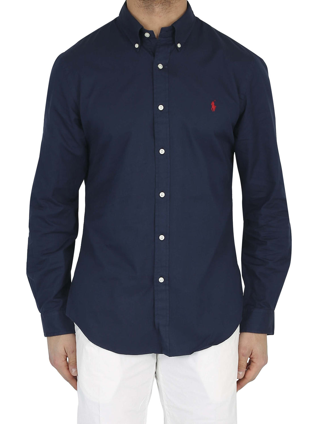 RALPH LAUREN Slim fit button down shirt with embroidered logo