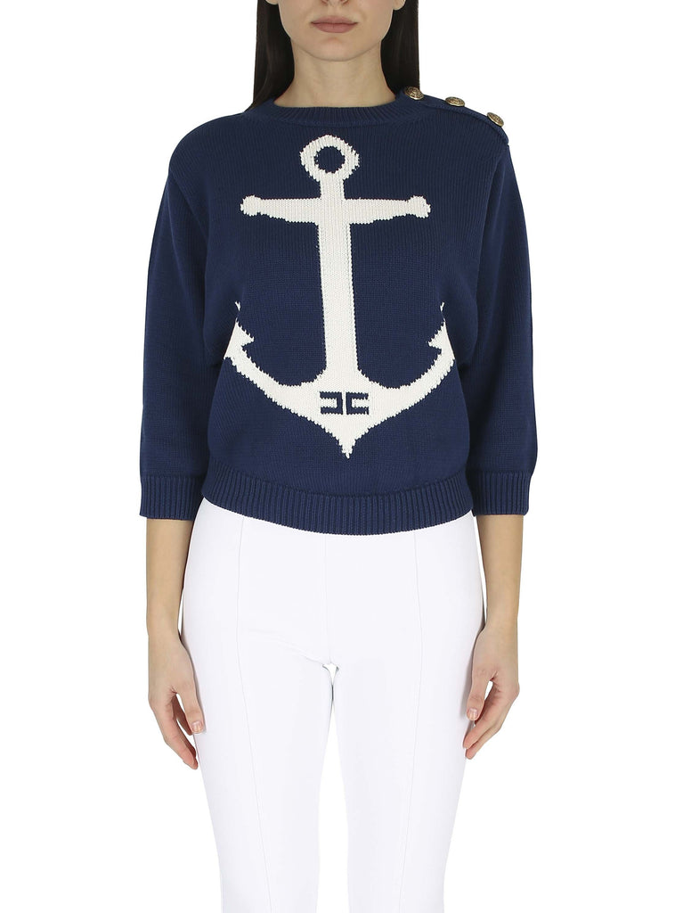 ELISABETTA FRANCHI Sweater with anchor