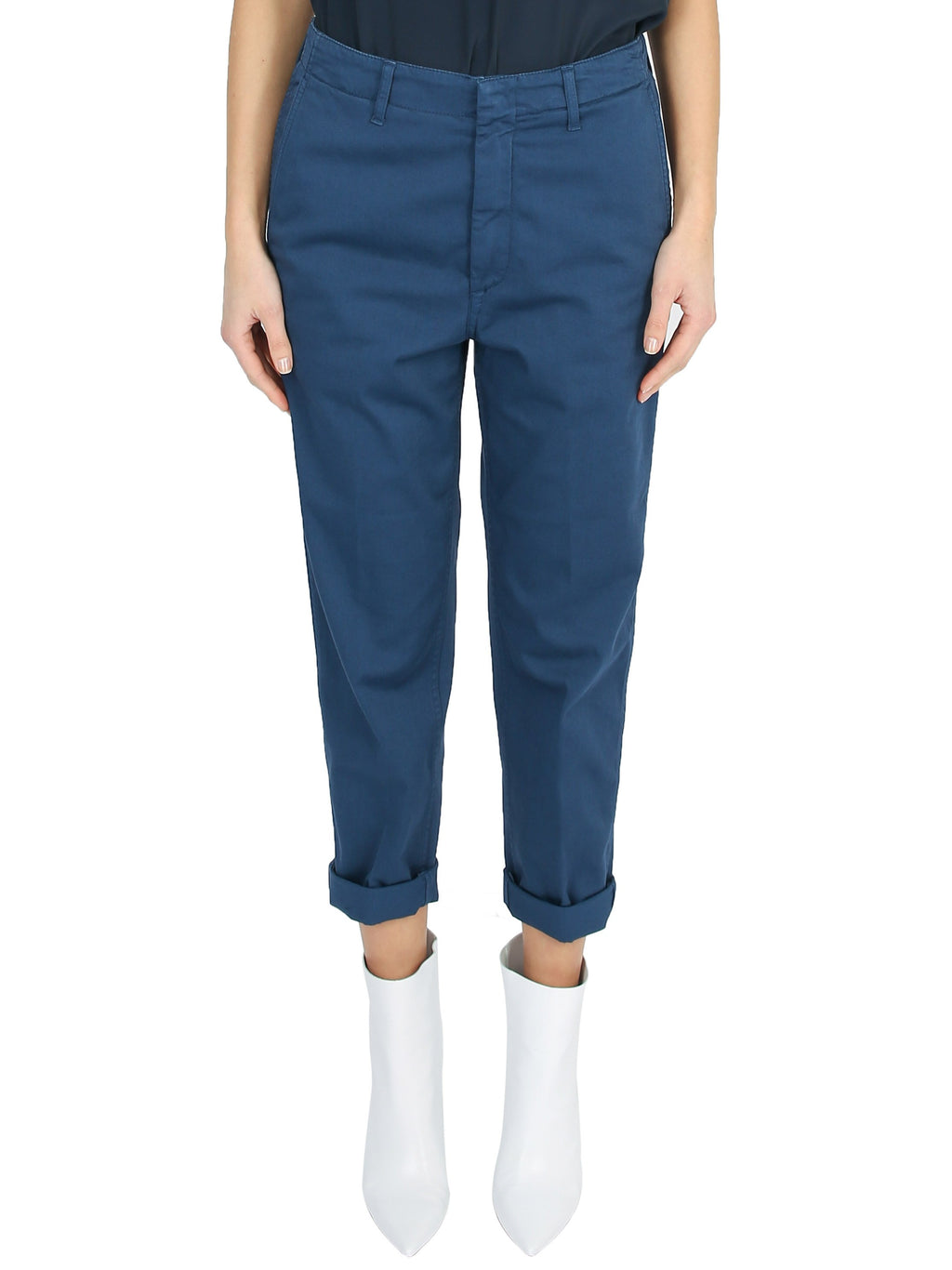 Naissa tapered cotton blend chino trousers