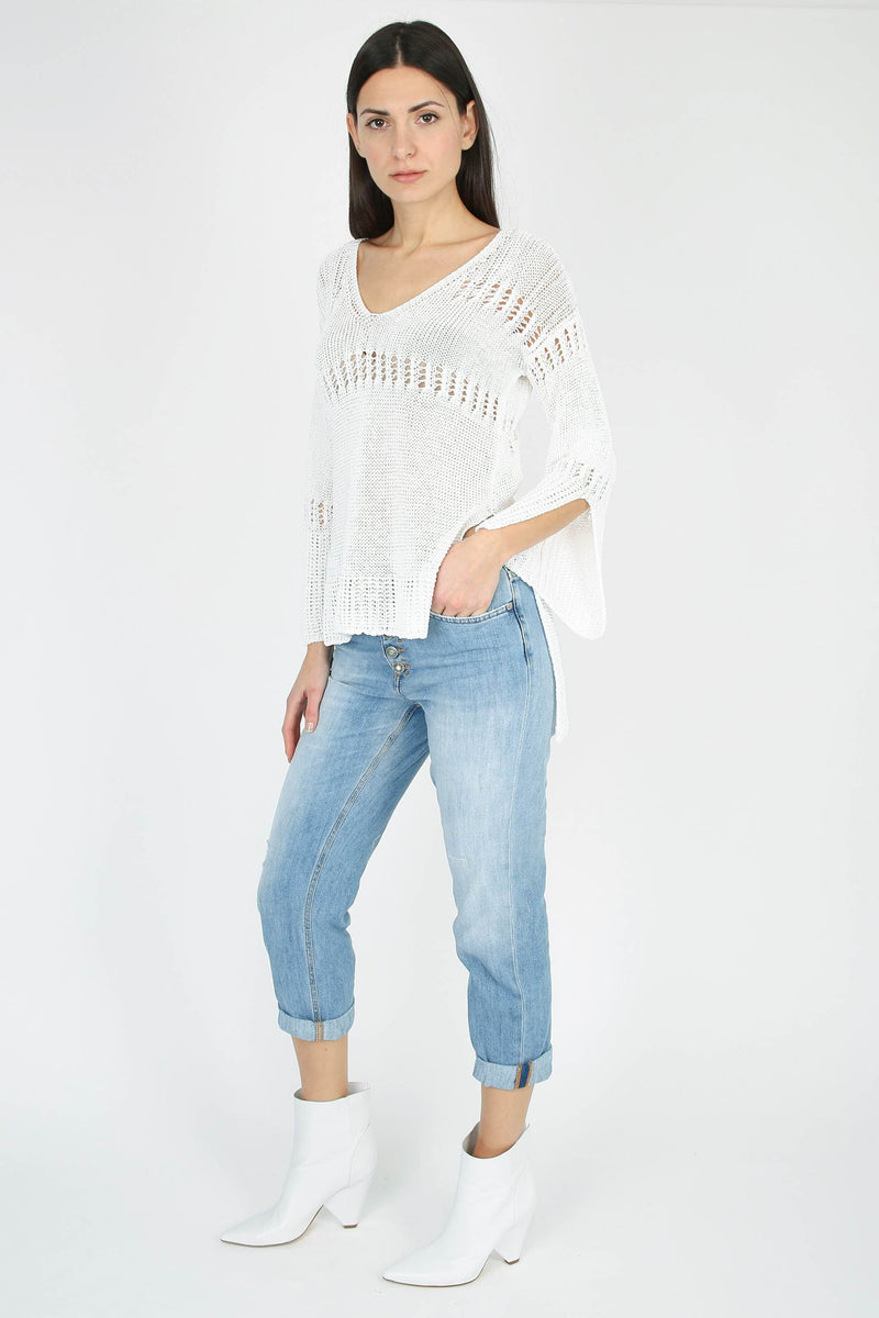 DONDUP Double-length V-neck sweater