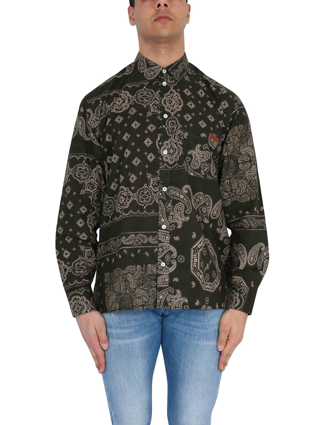 GOLDEN GOOSE Printed long-sleeved shirt