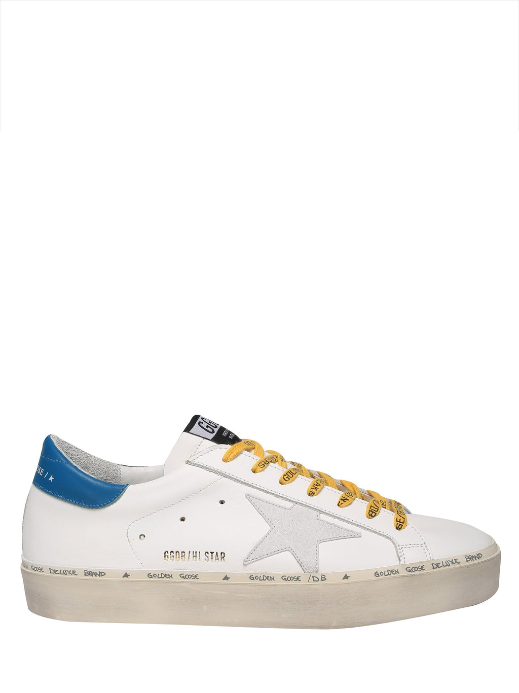 GOLDEN GOOSE Hi Star model leather sneakers