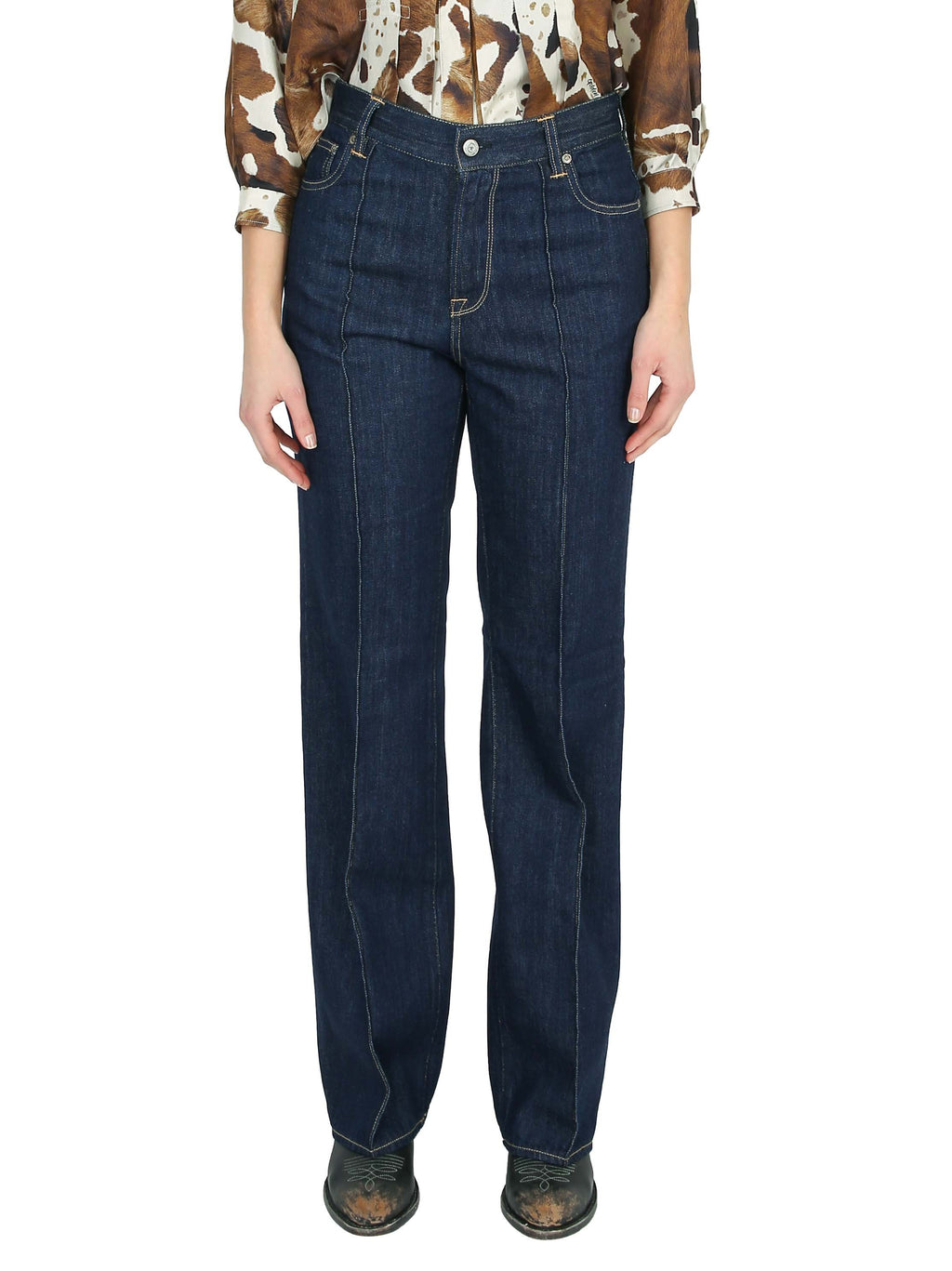 GOLDEN GOOSE Jeans a palazzo