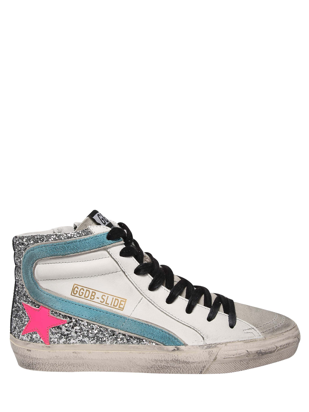 GOLDEN GOOSE High leather sneakers model Slide