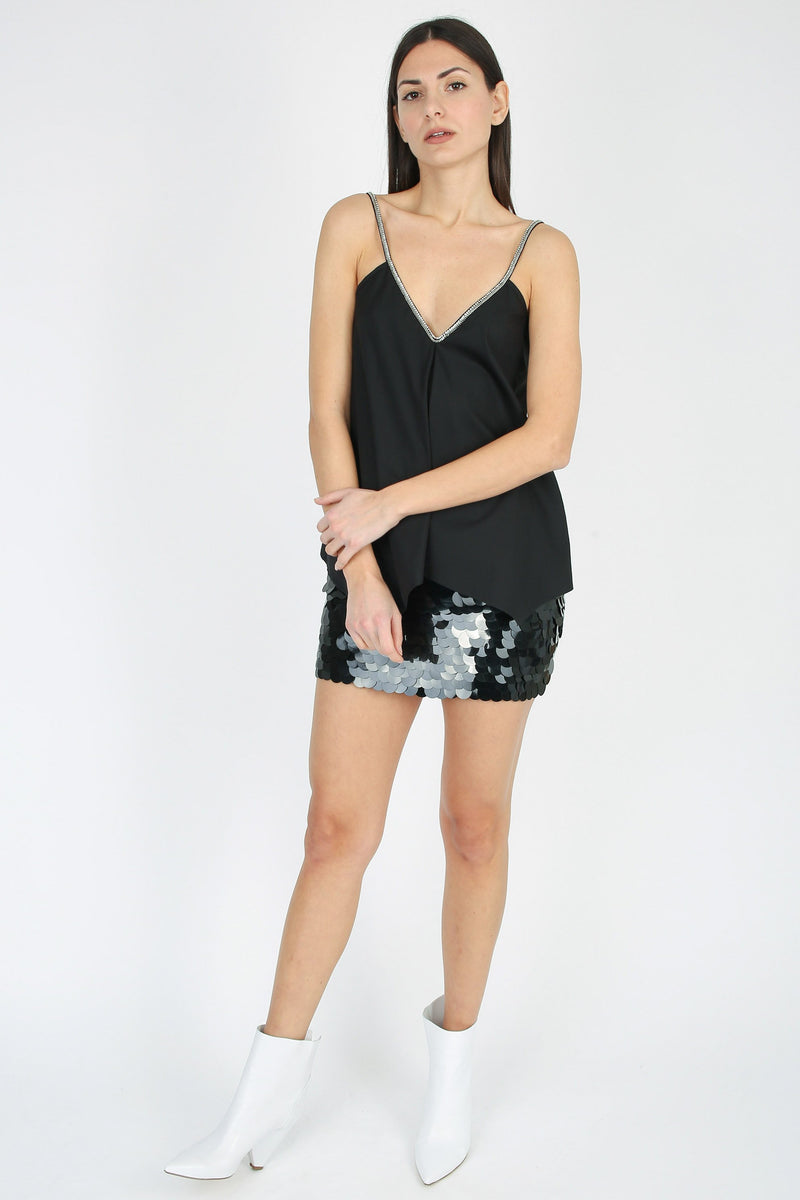 DONDUP Short skirt with sequins