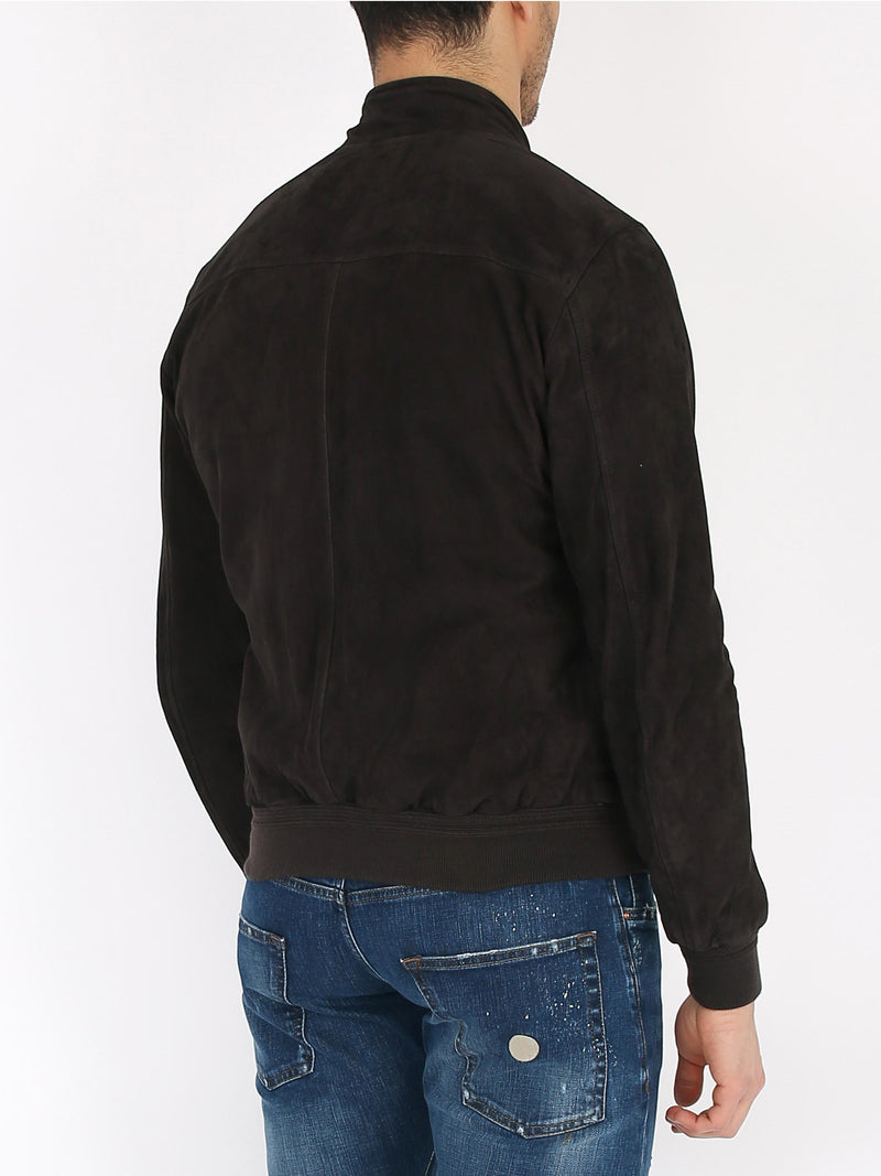 PRO LEATHER Central zip suede jacket