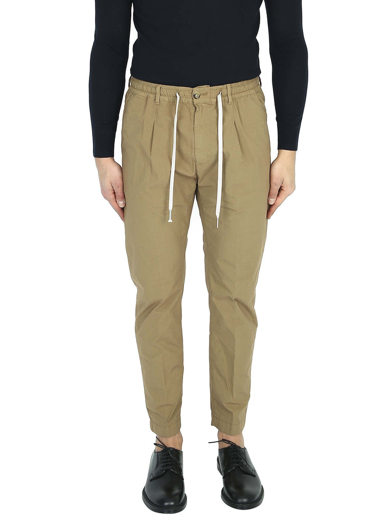 CRUNA Cotton trousers with elastic waistband