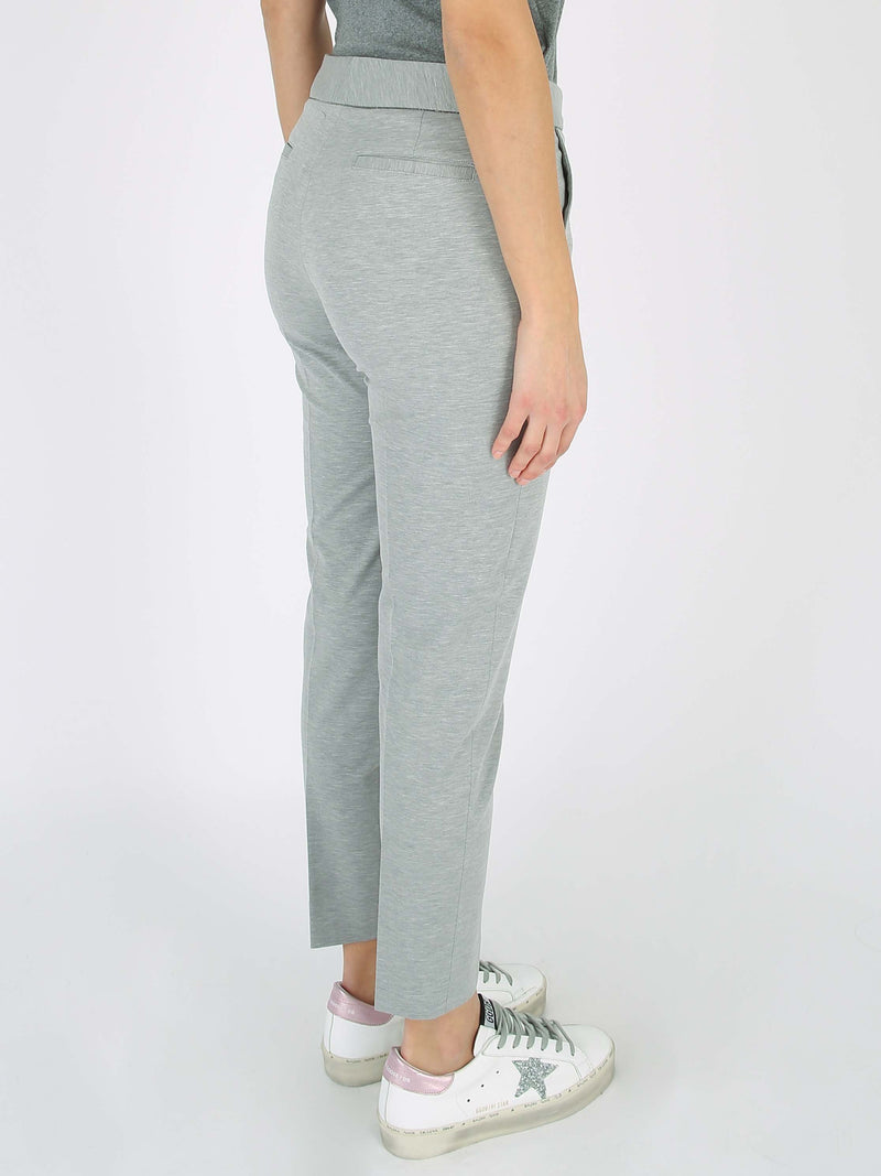 FABIANA FILIPPI Skinny fit trousers in cotton jersey