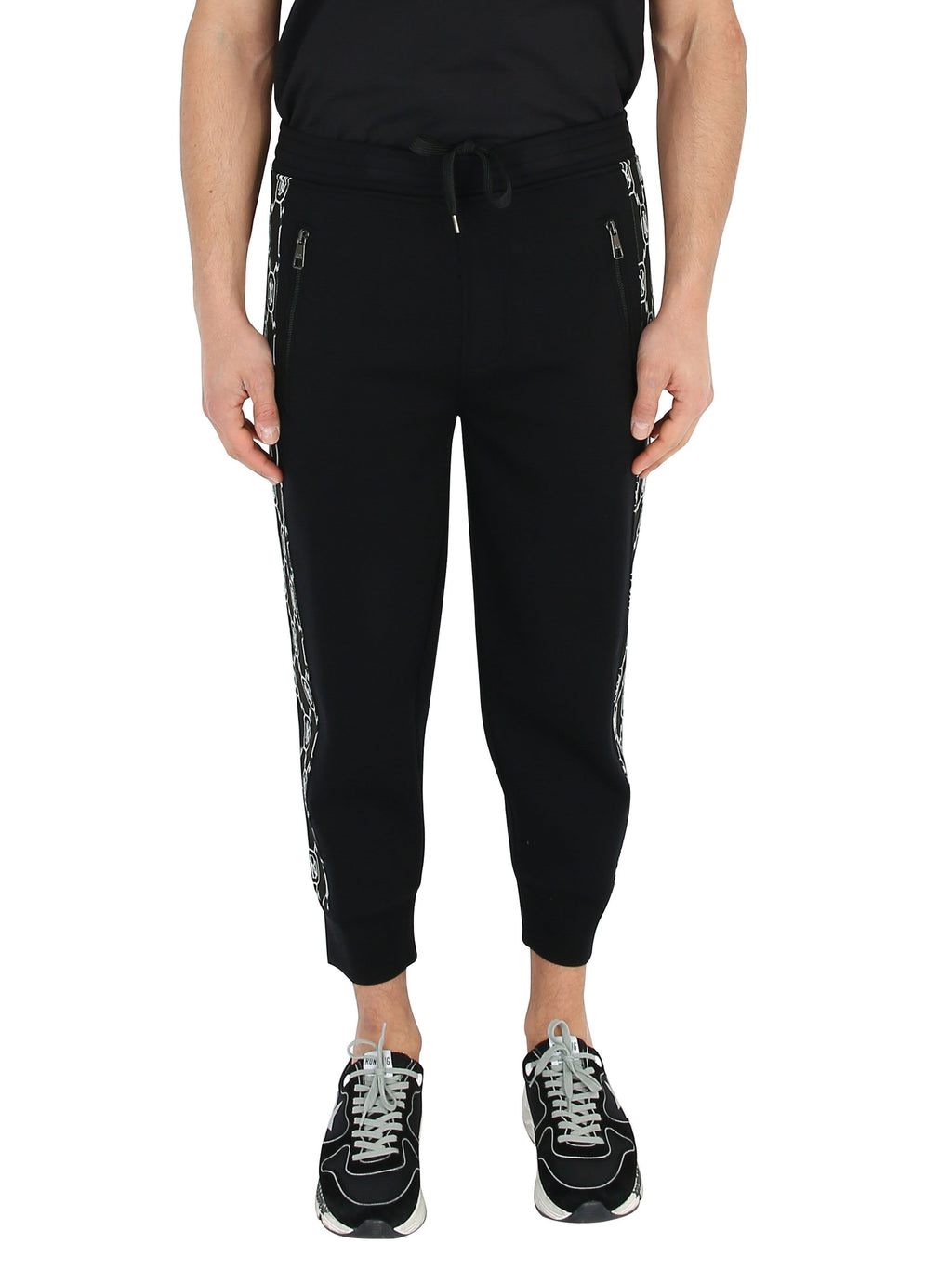NEIL BARRETT Jogging trousers with Monogram band
