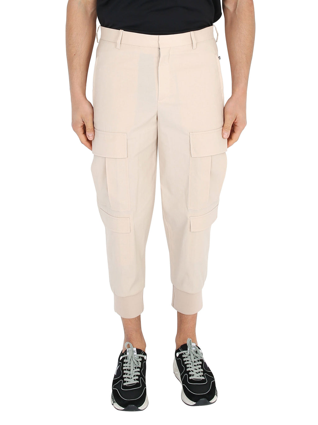 NEIL BARRETT Cargo cotton trousers with cuffs