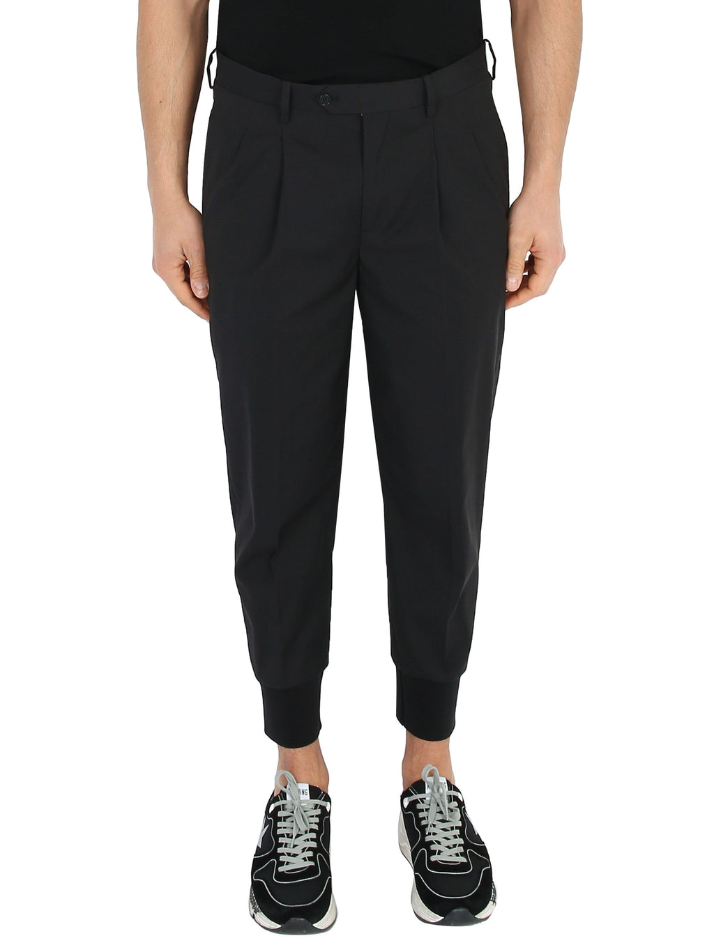 NEIL BARRETT Cotton trousers with cuffs