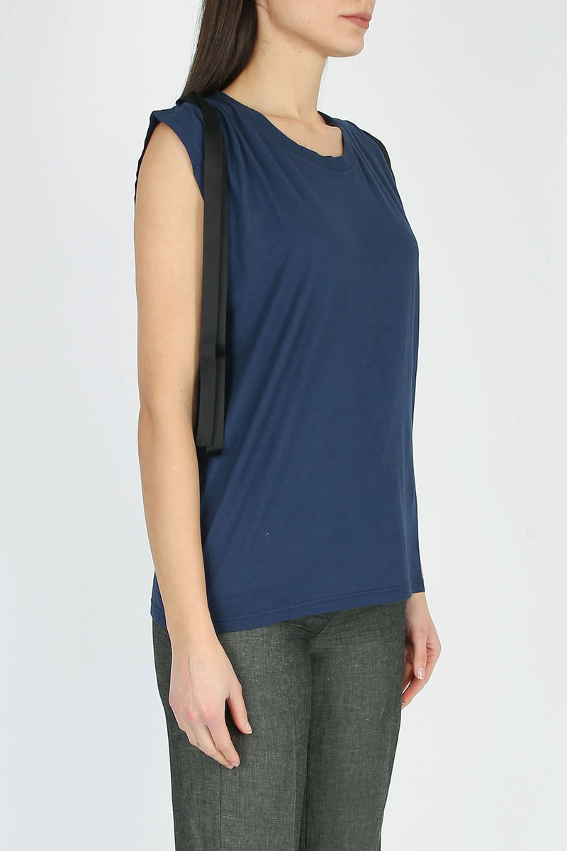 DONDUP Sleeveless t-shirt with applications