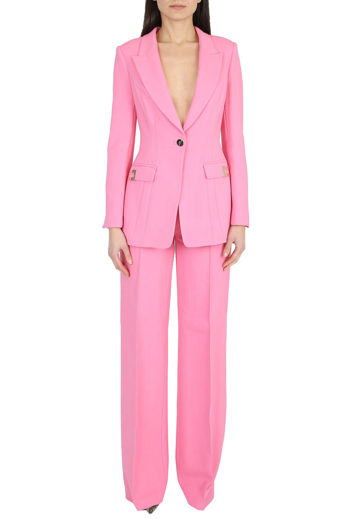 ELISABETTA FRANCHI Complete single-breasted jacket and palazzo pants