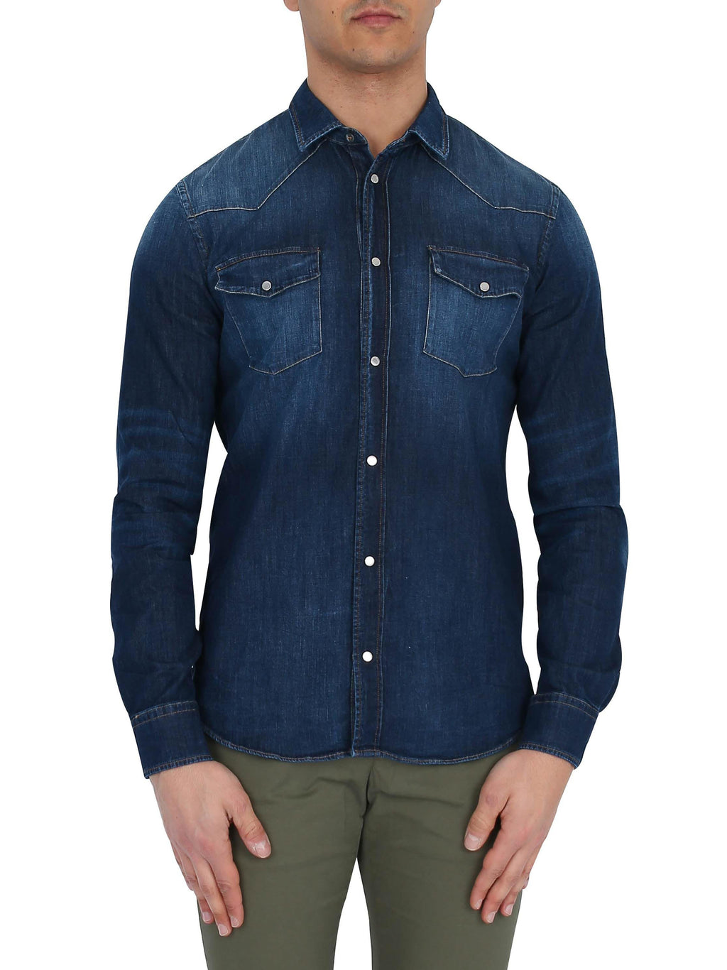 DONDUP Long sleeve denim shirt