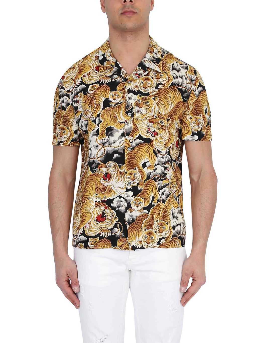 DONDUP Short sleeve printed shirt