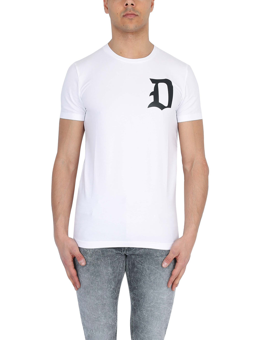 DONDUP Crew neck T-shirt with printed logo