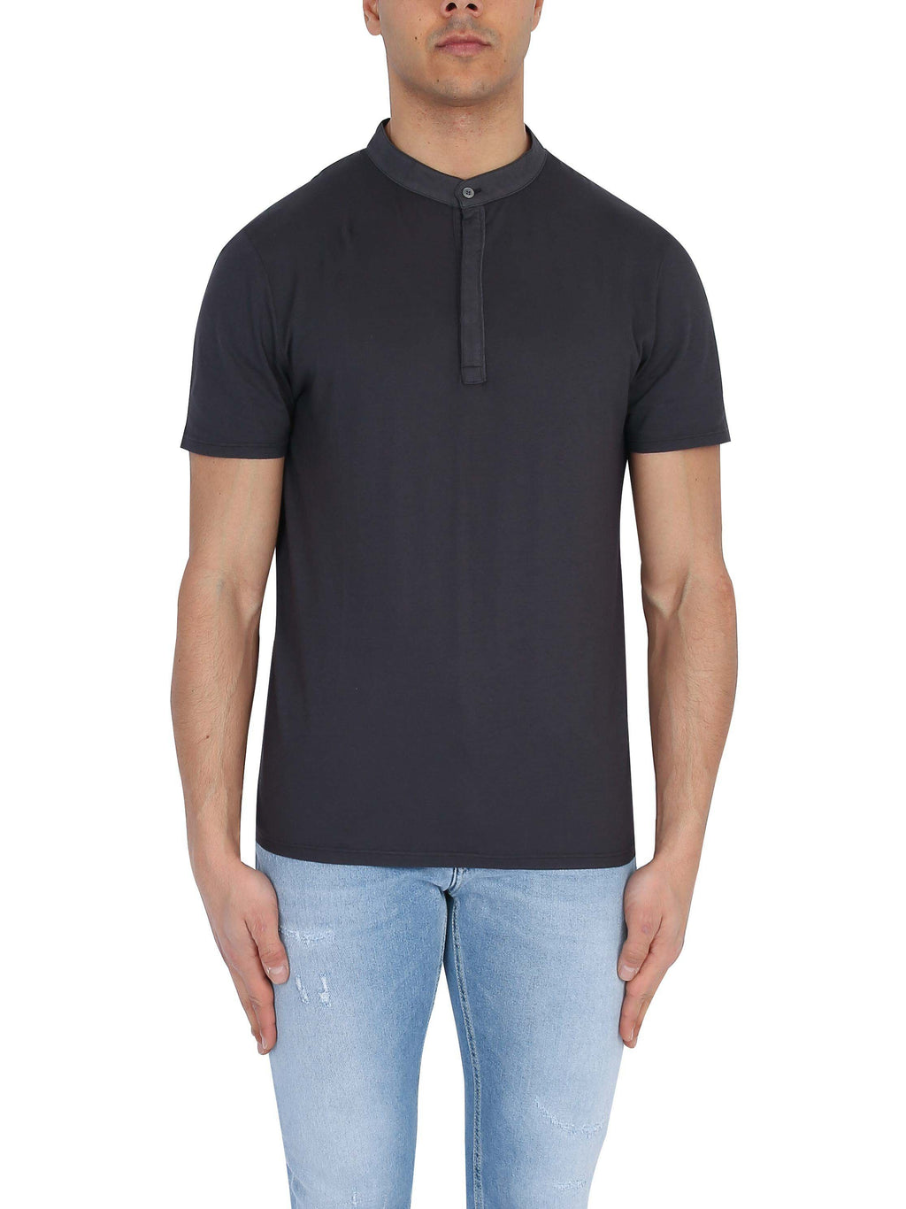 DONDUP T-shirt with short sleeve buttons