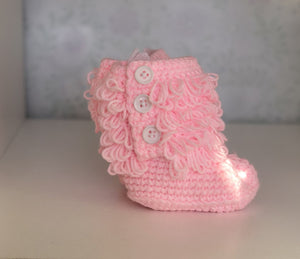 Baby Pink Snug As Baby Boots
