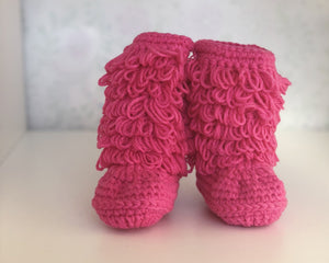 Hot Pink Snug As Baby Boots