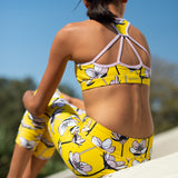 Strappy Racer - Yellow Floral
