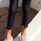 Frill Legging - Black Dot