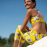 COMING SOON - Strappy Racer - Yellow Floral