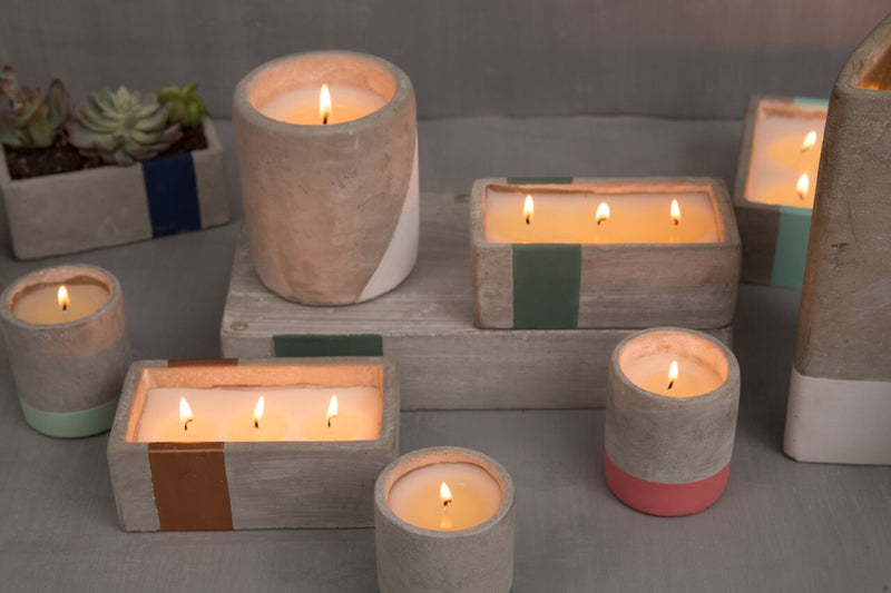 Urban Concrete Candle - Amber & Smoke
