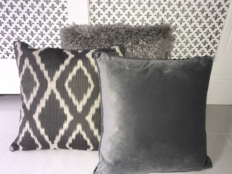 Grigio Cushion - Grey Velvet