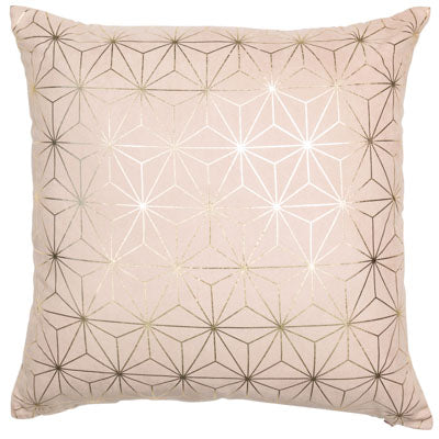 Mink Geometric Cushion