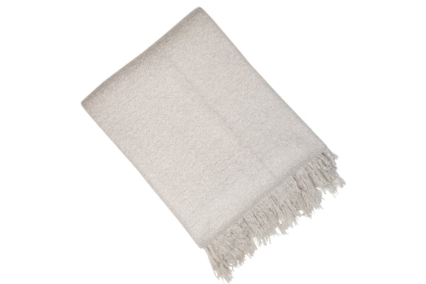 Grey throw with tassles