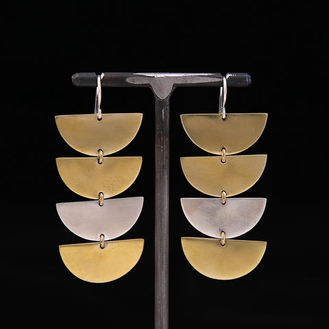 QUACI Earrings Brass