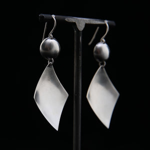 DIA Earrings Sterling Silver