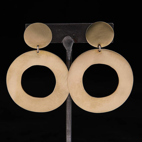 HOOPLA Earrings Brass
