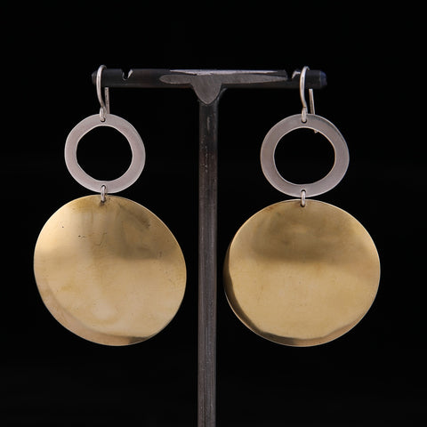 BOOM Earrings Brass