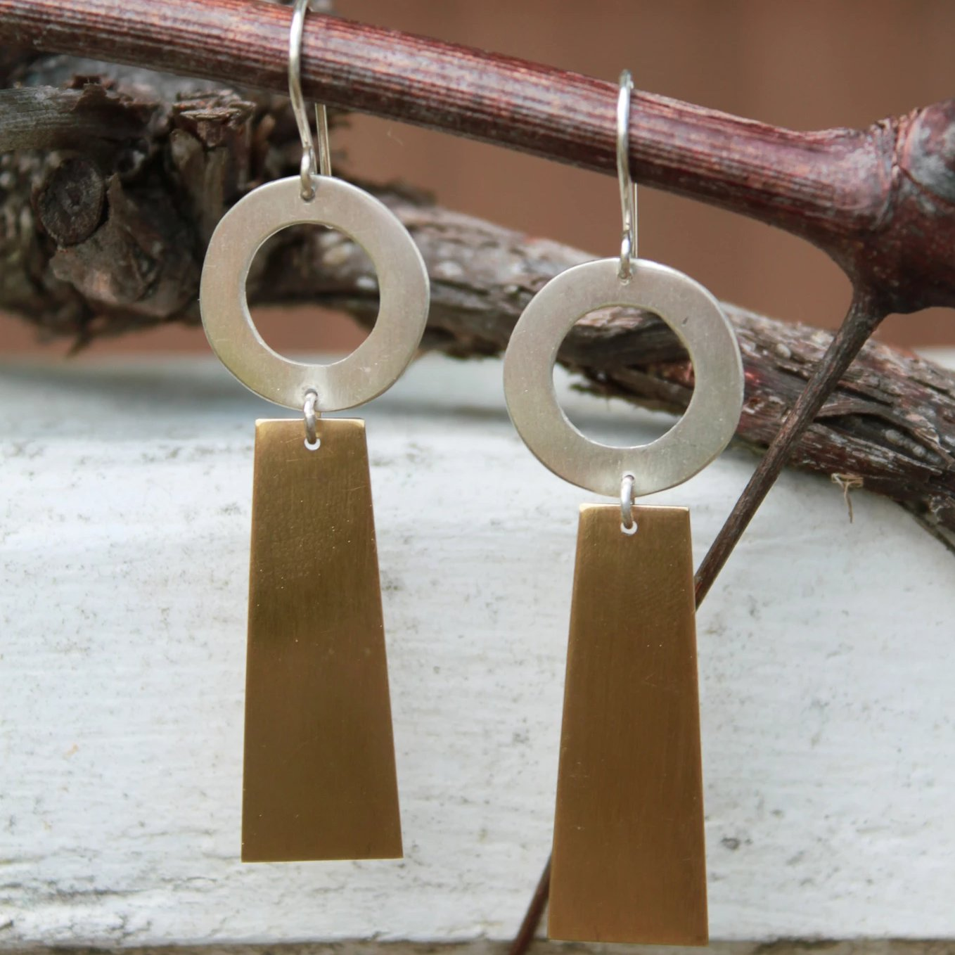 ROOBY Brass Earrings