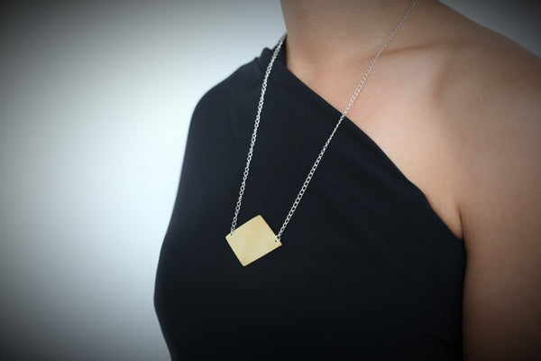 WHOOP Necklace Brass