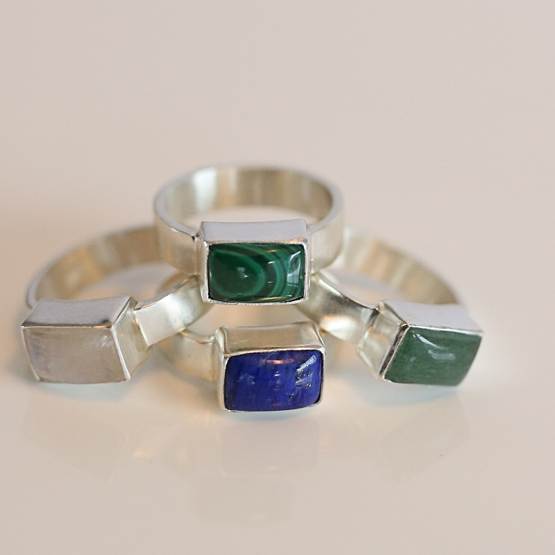 VADA Sterling Silver Malachite Ring
