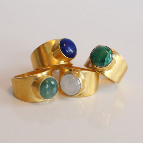 BEAU Gold Vermeil Malachite Ring