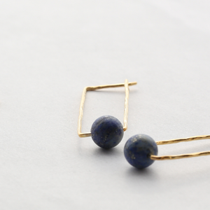 CALAMITY Gold Vermeil Lapis Lazuli Earrings