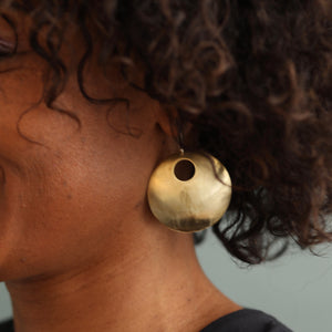 VIBE Earrings Brass