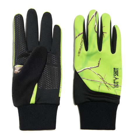 """Eagle"" Stretch Fleece Glove - Realtree® Exclusives - Lime"
