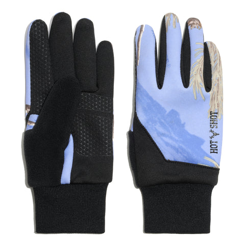 "Ladies' ""Eagle"" Stretch Fleece Glove - Realtree® Exclusives - Periwinkle"