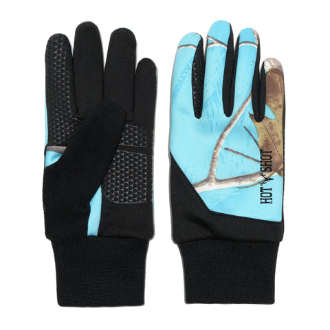 "Ladies' ""Eagle"" Stretch Fleece Glove -Realtree® Exclusives - Bluefish"